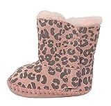 UGG - 4947F - Botas para cuna de piel de leopardo, zapatillas de niña Gris Size: 20.5 EU
