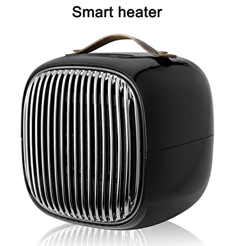 Sawpy Mini-elektrische radiator, kachel, snelverwarming, smart PTC-verwarming, 800 W, met beveiliging tegen oververhitting, vlamvertragende behuizing, ideaal voor gebruik thuis en op kantoor