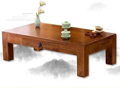 : Couchtische alte Ulme Tee Tisch Massivholz Tatami