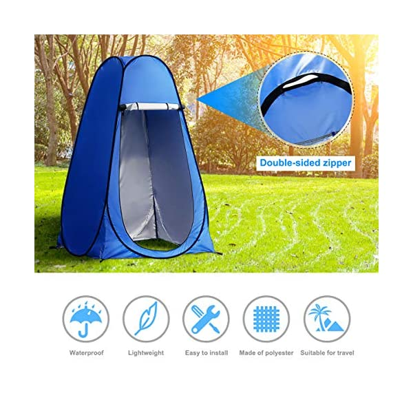 Laelr Pop up Toilet Tent, 4 Pack Shower Privacy Toilet Changing Room Changing Tent Foldable & Portable Beach Dressing… 2