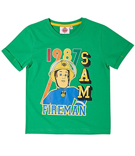 Sam el bombero Chicos Camiseta Manga Corta - Verde - 140