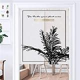 HRYJ Nordisch Vorhang Baumwollvorhang aus schwarzem Gold Gewebevorhänge Küche Gardine Trennwand Fenstergardine Schlafzimmer Vorhang 70x120cm (28x47 Zoll)