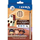 Dixon Ticonderoga Company Lyra Color Giants Skin Tone Colored Pencils (DIX3931124)