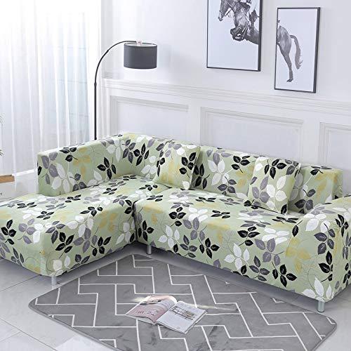 ASCV Funda de sofá Funda de sofá elástica Funda de sofá para Sala de Estar en Forma de L esquinero Chaise Longue Funda de sofá A5 2 plazas
