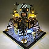 IIKA Kit de iluminación LED para bloques de construcción Lego, compatible con Lego 10266 Nasa Apollo 11 Lunar Lander, el modelo Lego no incluido