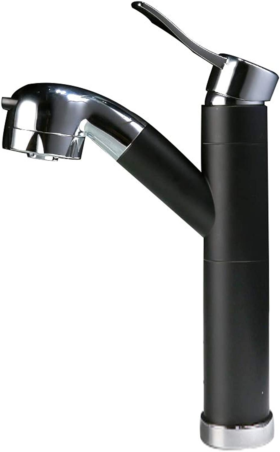 LIUSHUI Full Copper Faucet, Can Pull The redatable Basin Faucet, Bathroom Telescopic Faucet, Multi-style and Multi-color Optional (color   BLACK, Design   B)