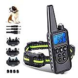 Dog Training Collars, Dog Shock Collar with Remote 2600 feet, 3 Modes Beep Vibration Shock, IPX7 Waterproof, LED Light, USB Charging, Dog Bark Collar for Training Small Medium Large Dogs
