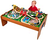7. KidKraft Ride Around Train Set and Table