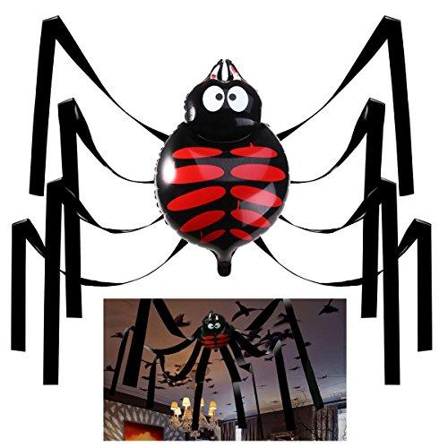 Unomor Halloween Spinne Dekorationen 20 Fuß Gigant Deckenhänger Set für Halloween Party Deko