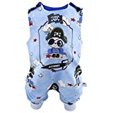 Eve Couture Babykleidung Baby Strampler Pirat Käptn Pandabär personalisiert mit Namen (62-68)