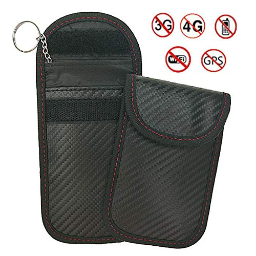 Car Key Bag Car Fob Signal Blocking Bag Shielding Pouch Wallet Case for Privacy Protection, 2 pack
