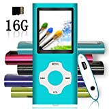 Tomameri - Portable MP3 / MP4 Player with Rhombic Button, Including a 16 GB Micro SD Card and Support Up to 64GB, Compact Music, Video Player, Photo Viewer Supported (Purple)
