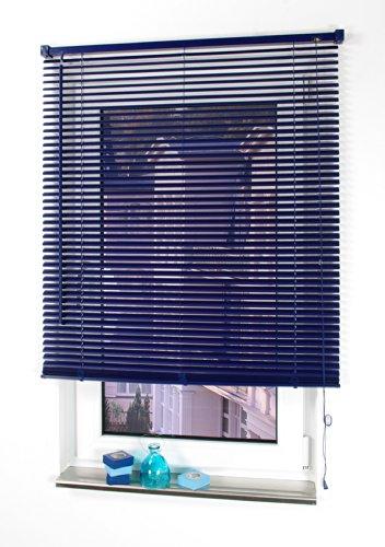 Liedeco Jalousie aus Kunststoff, 160 cm Länge, Kunststoff-Jalousie orientblau B 90 cm