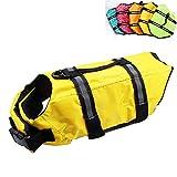 Dog Life Jacket Easy-Fit Adjustable Belt Pet Saver Swimming Safety Swimsuit Preserver