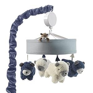 Lambs & Ivy Signature Montana Musical Mobile – Blue/White Bears