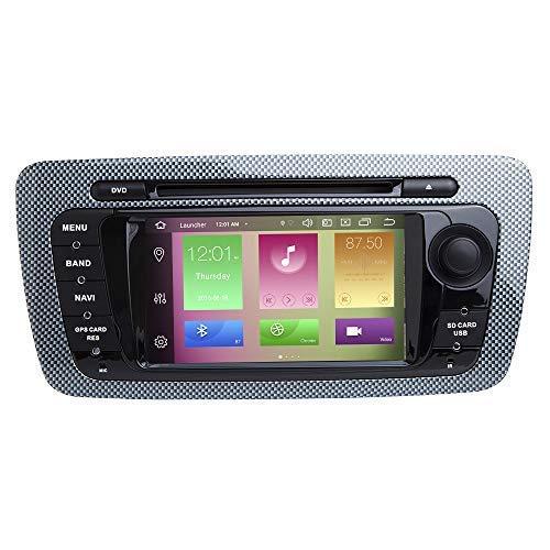 JFFFFWI für Sitz Ibiza MK4 / 6J 2009-2013 Android 10.0 Octa Core 4 GB RAM 64 GB ROM 6,2-Zoll-Auto-DVD-Player Unterstützung für Multimedia-GPS-Systeme TPMS/OBD / 4G WiFi / DAB1