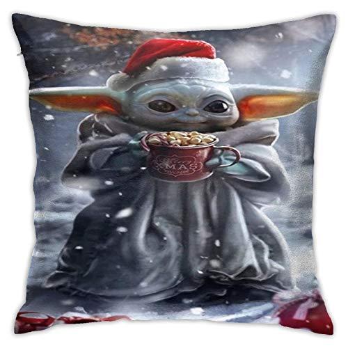 Funda de almohada de bebé Yoda para decoración del hogar, cojín cuadrado es excelente para interiores y exteriores