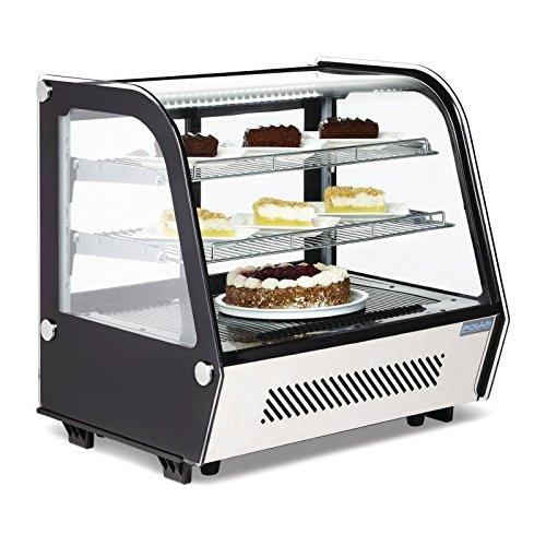 Kühlvitrine Kuchenvitrine Tischmodell 120L