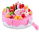 BigNoseDeer Birthday Cake Toy Food Play Set Pretend Play Children's Day Gift DIY