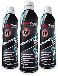 MedZone Piercing Aftercare and Wound Wash – Sterile Saline, Variable Spray 8 Ounce Can (3 Pack)