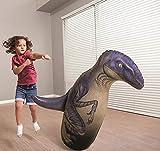 ML tentepie muñecos y Animales Hinchable tentetioso . muñeco Dinosaurio Hinchable para niños (Lila-Dinosaurio)
