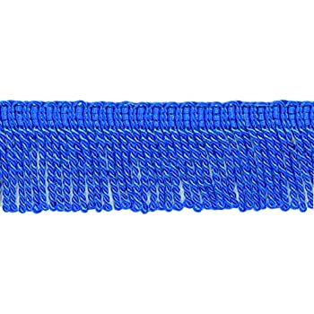 D/ÉCOPRO 10 Yard Value Pack|2 Inch Long Thin Bullion Fringe Trim|Style# BFT2 Color C4T 9.5 Meters Gold with Blue Header|30 Ft
