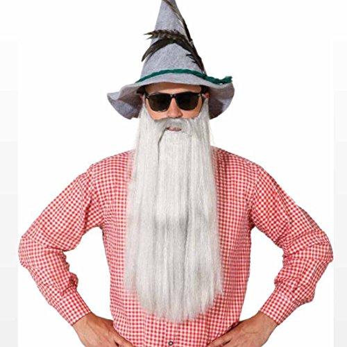 Amakando Barba larga para el Oktoberfest, barba bvara, barba, barba, disfraz de carnaval, accesorio para disfraz de mago Merlin