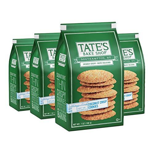 Tate's Bake Shop Thin & Crispy Cookies, Coconut Crisp, 7 Oz, 4 Count