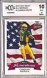 Carson Wentz 2016 Leaf Draft All American #AA-02 ROOKIE Card Graded HIGH BECKETT 10 MINT! Awesome High Grade ROOKIE Card of Philadelphia Eagles Quarterback & Top NFL Draft Pick!