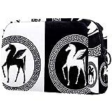 Bolsa para brochas de maquillaje personalizable, bolsa de aseo portátil para mujer, bolso cosmético, organizador de viaje, caballo romano con alas