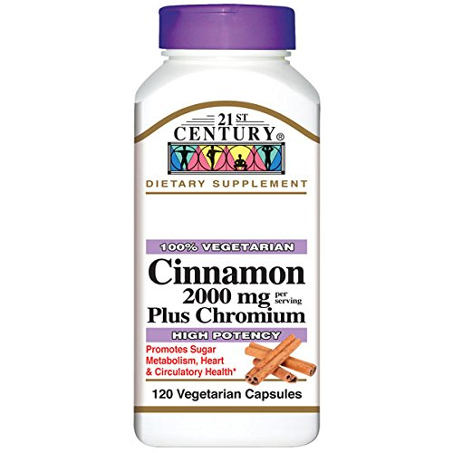 21st Century Cinnamon Plus Chromium Vegetarian Capsules, 120 Count (Pack of 2) (3)