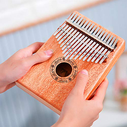 ZIEO Pocket Thumb Finger Piano17 Key African Mahagoni Holz Kalimbas Daumen Klavier Finger Percussion Finger Daumen Klavier