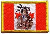 Flaggen Aufnäher Kanada Indianer Fahne Patch + gratis