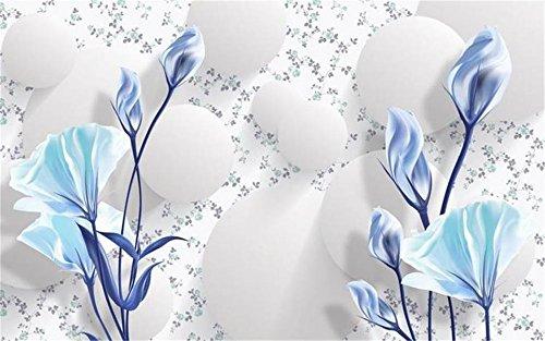 Yosot 3D behang foto behang aangepaste woonkamer muurschildering 3D bolletjes bloemen schilderij bank tv achtergrond behang voor muur 3D 300cmx210cm