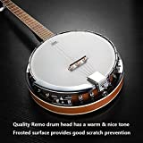 Vangoa 5 String Banjo Remo Head Closed Solid Back with beginner Kit, Tuner, Strap, Pick up, Strings, Picks and Bag