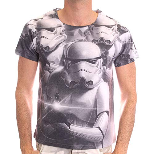 Star Wars - Troopers Heren T-shirt met volledige print - Wit - Maat Medium