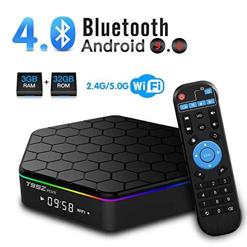 T95Q Android TV Box T95Z Plus Android 9.0 mit 3 GB RAM 32 GB ROM Amlogic Octa Core Media Player unterstützt 4K Auflösung 2,4 G / 5G Dual WiFi 1000 M LAN BT 4.0