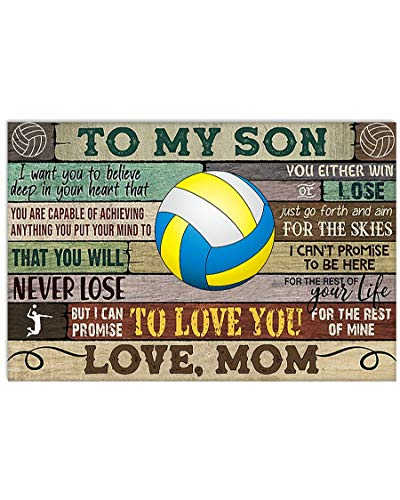 Gearsly Play Volleyball Poster No Frame Or Framed Canvas 0.75 Inch Print in Us Novelty Quote Meaningful, Motivational