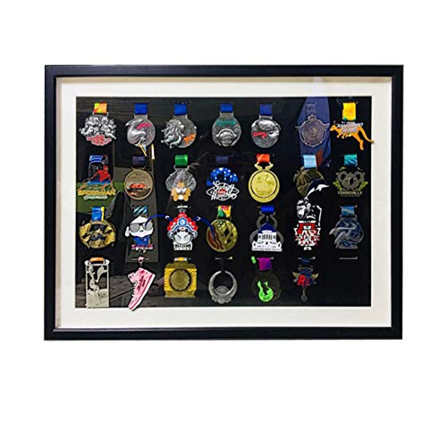 Medal Frame Order of Honor Medal Holder, Coin Holder for More Than 30 Medals Medal Box, Medal Display,Black