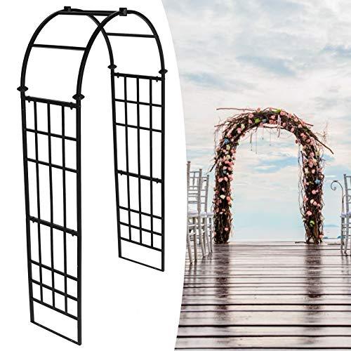 Arcos de Jardín Al Aire Libre, Arcos de Hierro Forjado Arco Enrejado Arcos de Boda Arcos de Plantas Utilizados para Trepar Plantas para Decoración de Bodas y Ceremonias de Compromiso, 48x98x21