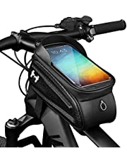 """Hawk Bike Phone Mount Frame bag - Water Proof Bike Accessories as Storage and Bike Cell Phone Holder, Durable Easy to Install for all Sized Phones up to 7"""""""