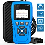 DN707 Full Functions of OBD2 Scanner Fault Code Reader for All OBD2 Compliant Vehicle with Battery Test/ Alternator Test/Battery Voltage, Free Case