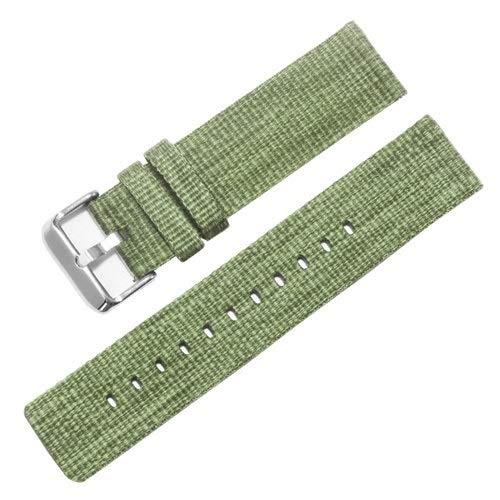 LAAGFC Correa de nailon engrosada de liberación rápida 18, 20, 22, 24 mm, gris, azul, rojo, rosa, morado, adecuado para Huawei Watch GT2 Pro (color de la correa: verde, ancho de la correa: 24 mm)