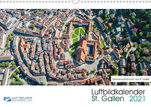Luftbildkalender St. Gallen 2021CH-Version (Wandkalender 2021 DIN A3 quer)