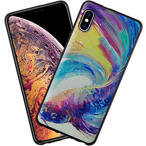 DAYNEW Voor Huawei Y6 Pro (2019) Hoes, Zachte TPU Siliconen Chic Embossed Schilderij Vernis Proces Anti-Slip Beschermende Back Case Voor Huawei Y6 Pro (2019)-#001