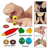 Super India Store Acupressure Finger Care Massager Sujok Rings Power Balls-Power Thumbs-Reflexology...