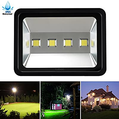 LuBao Led Flood Light Waterproof Super Bright 6000K White Light Spotlights Flood Lamp,120-Degree Beam Angle Wall Lights for Outdoor Garden Landscape Playground