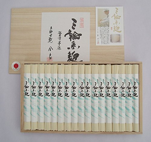 極上 手延べそうめん 三輪素麺 「極細」 木箱 のし付 850g 17束 奈良 三輪山麓にて製造