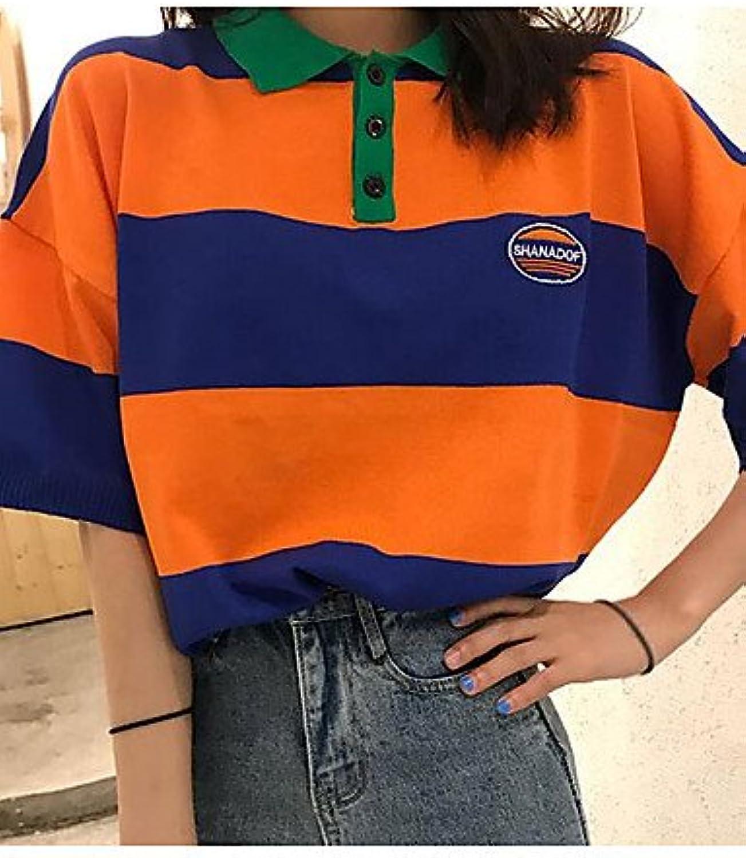 Women's tShirt  color Block Round Neck