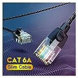 Cable de ethernet, Cable Ethernet CAT6A 10GBPS LAN Cable UTP RJ 45 Slim Ethernet Patch Cable Cable de parche compatible para el enrutador de módem para enrutador, panel de conexión, Smart TV